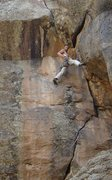 "Rock Climbing Photo: FA of ""Tin Roof Sunday"", 11+, at the Hob..."