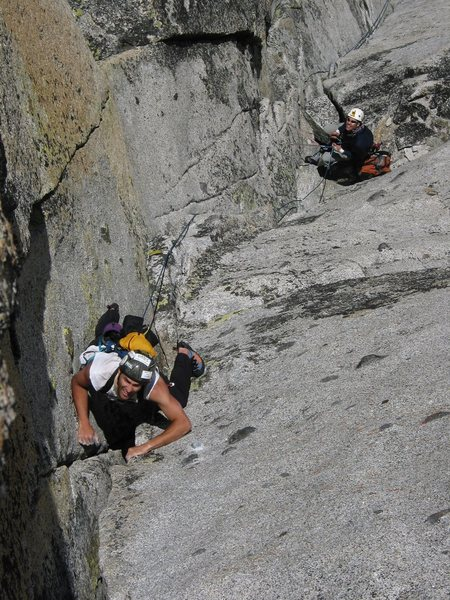 Cranking up the final pitch.  What a great climb!