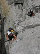 Rock Climbing Photo: Cranking up the final pitch.  What a great climb!