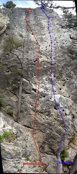 Rock Climbing Photo: Topo for Robin.  Makes it slightly taller looking ...