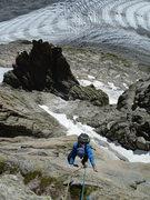 Rock Climbing Photo: Le soleil rendez vous avec la lune, Chamonix (Grep...