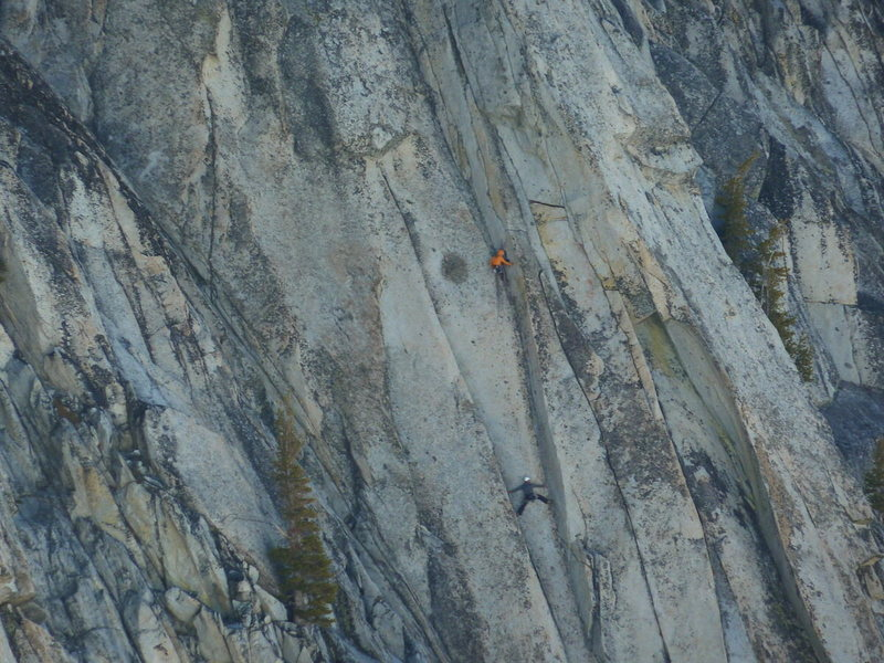 Birds eye view of the crux.