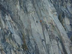 Rock Climbing Photo: Birds eye view of the crux.