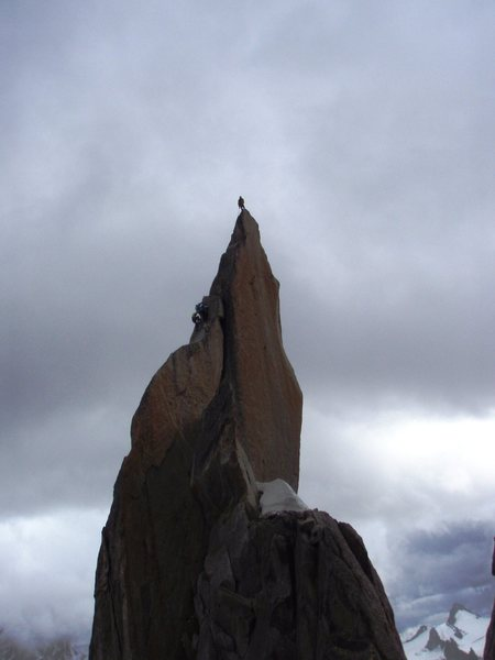 Aiguille de Roc, neighbour needle with another climbers