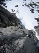 Rock Climbing Photo: The upper half of the spicy second pitch.