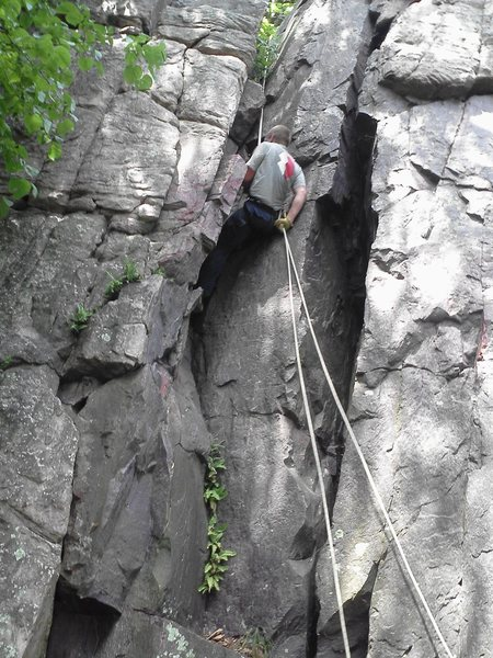 More rappelling
