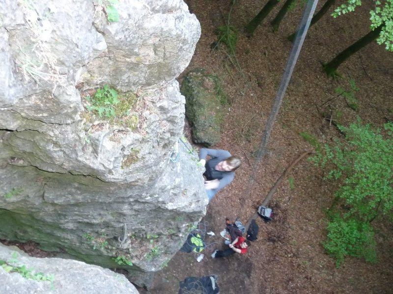 Rock Climbing Photo: Eva on the arete.
