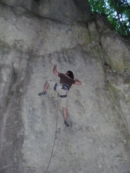 Rock Climbing Photo: Me working through the crux.