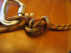 Rock Climbing Photo: ...Blocked slipknot (or chain sinnet, monkey braid...