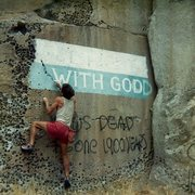 Rock Climbing Photo: Get Right With God.