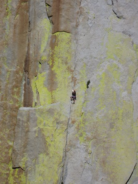 Rock Climbing Photo: Unknown climber on Thin Ice, Saturday morning 6/2/...