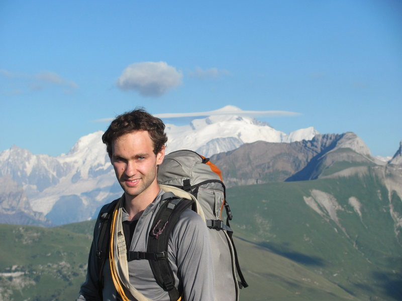 At the top of Petit Bargey in Haute Savoie, France