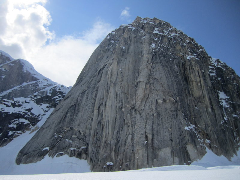 Rock Climbing Photo: The Couloir is on the left side of this picture
