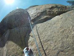 Rock Climbing Photo: Straw Turkey 1 pitch just before the thin stuff at...