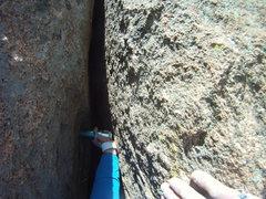 Rock Climbing Photo: Straw Turkey 2nd pitch, placed #3 Big Bro