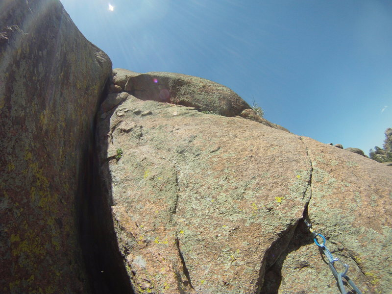 1/3 up the 2nd pitch, this part was a lot of fun 5.7ish.  The OW is still out of sight about 30ft up.