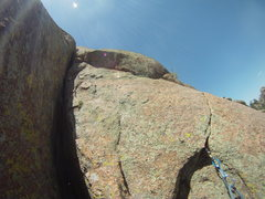 Rock Climbing Photo: 1/3 up the 2nd pitch, this part was a lot of fun 5...