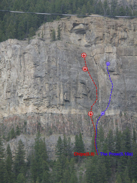 Rock Climbing Photo: Topo for The Prow