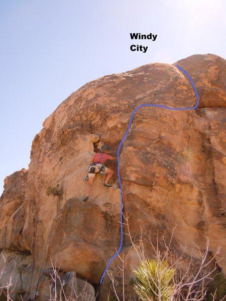 Rock Climbing Photo: Joan Bertini climbing Windy City