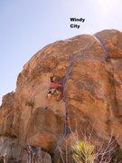 Joan Bertini climbing Windy City