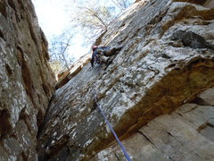 Rock Climbing Photo: Nick Trad Lead, Palisades, AL