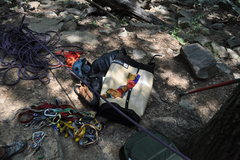 Rock Climbing Photo: Learning to trad. Lost Wall, GA