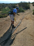 Rock Climbing Photo: Almost a mile of tubing needed to be removed from ...