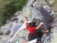 Rock Climbing Photo: Baker firing it off