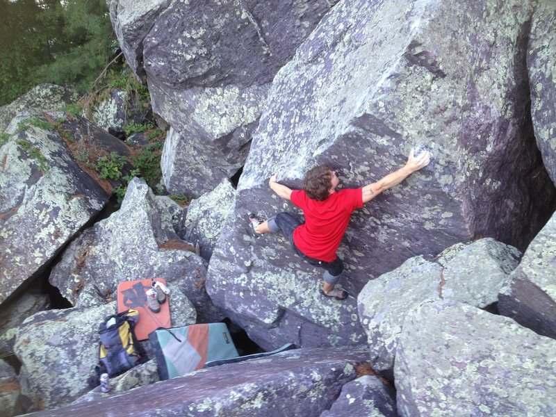 Rock Climbing Photo: Baker sending
