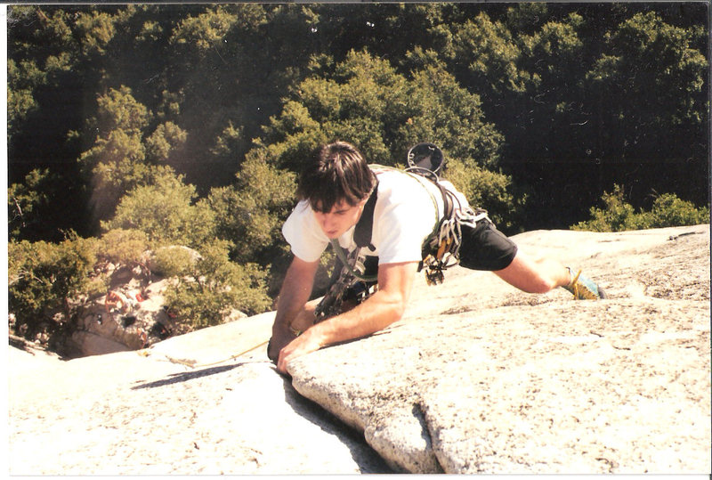 Rock Climbing Photo: me leading on serenity crack