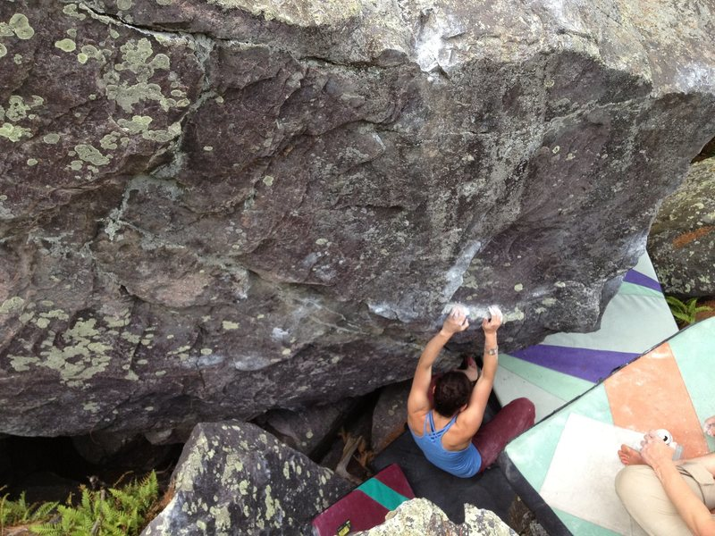 Rock Climbing Photo: Sammy at the start