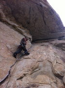 Rock Climbing Photo: The cardboard crack.