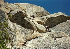 Rock Climbing Photo: On the route.