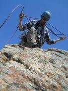 Rock Climbing Photo: Dan readying the Rap