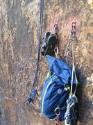 Rock Climbing Photo: You will need a 70m to get from the anchor on top ...