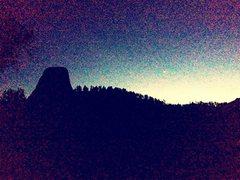 Rock Climbing Photo: tower at night