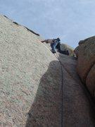 Rock Climbing Photo: Edward's start
