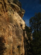 Rock Climbing Photo: The obtuse, right-facing flake at the start is not...