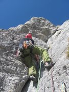 Rock Climbing Photo: The crack on Pitch 5 on the route Ace of Spades.