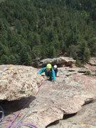 Rock Climbing Photo: K & J follow P2.