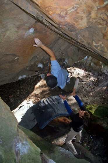 Rock Climbing Photo: The topout of the cave.  Also known as 'The Tufa'