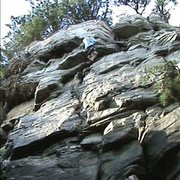 "Rock Climbing Photo: ""Pee Break"" at Pilot Mtn."