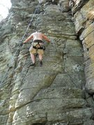 Rock Climbing Photo: Hangout at Pilot Mtn.