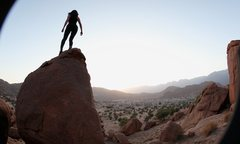 Rock Climbing Photo: Exploring the bouldering around Tafraout..self-por...