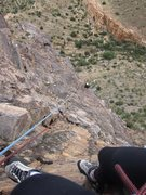 Rock Climbing Photo: Belaying Berto up the 4th pitch of a line...in the...