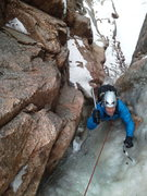 Rock Climbing Photo: Pulling through the chandeliered and wet crux pitc...