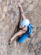 Rock Climbing Photo: Suzi leads Aqua Negro.