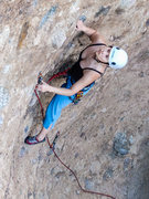 Rock Climbing Photo: Suzi leads in The Canyon.