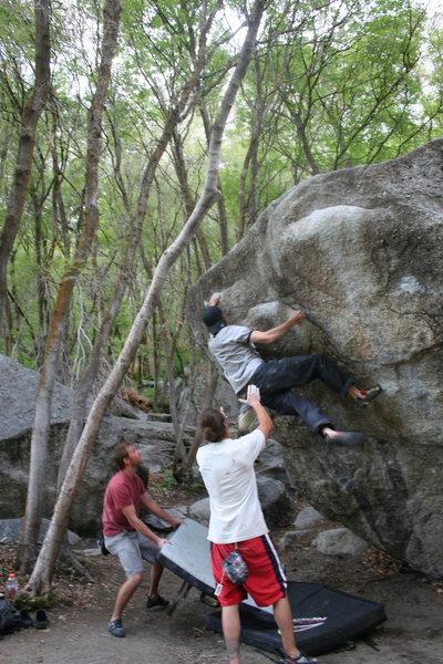 Rock Climbing Photo: the standard overhang V3 ***
