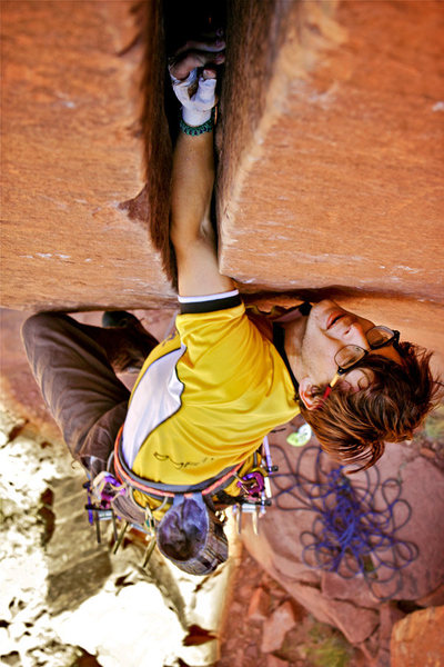 Rock Climbing Photo: Getting established over the roof. Such a rad crac...